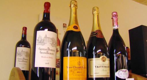 Vins et champagne
